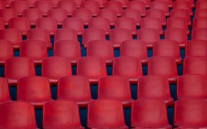Preview wallpaper chairs, red, rows, cinema
