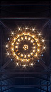 Preview wallpaper chandelier, lamp, lighting, light, bottom view