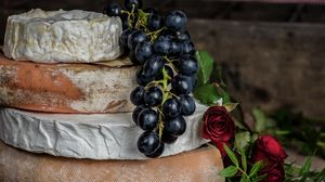 Preview wallpaper cheese, rose, grape
