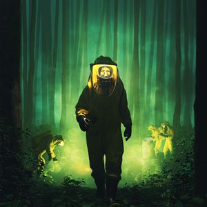 Preview wallpaper chemical protection, costume, zombie, radiation, fantasy, green