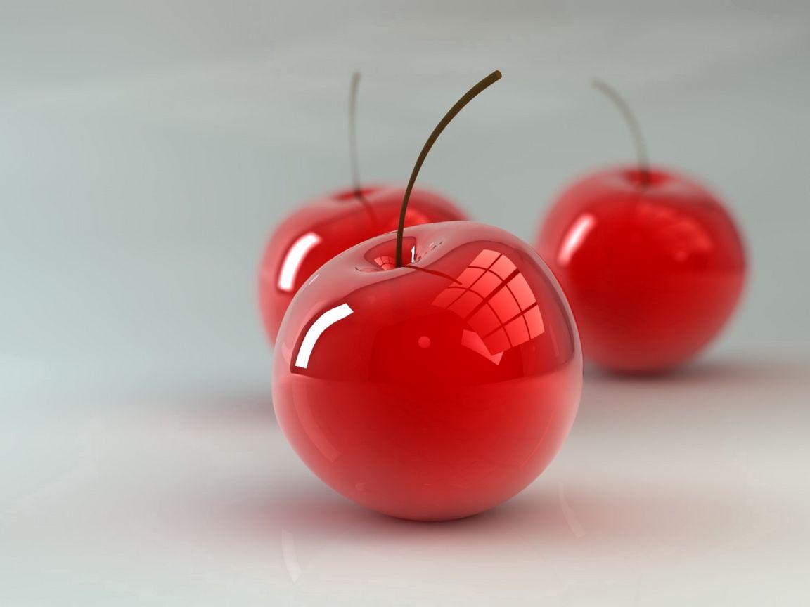 1152x864 Wallpaper cherry, berry, 3d