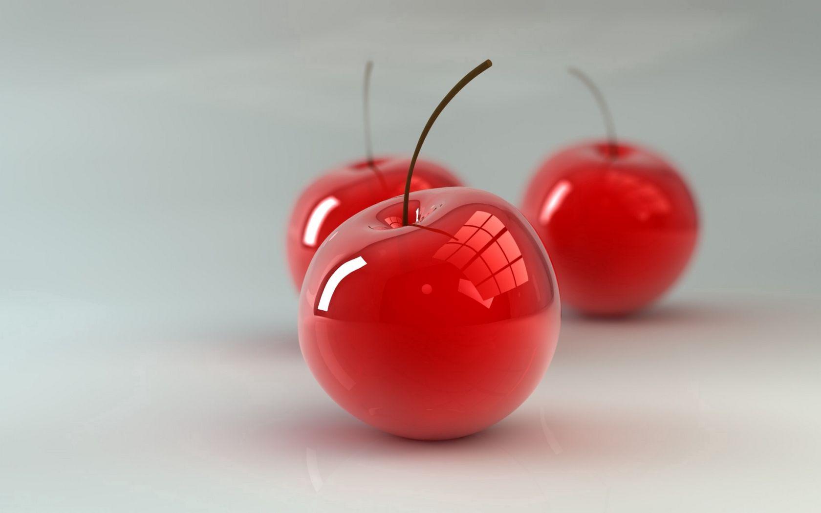 1680x1050 Wallpaper cherry, berry, 3d
