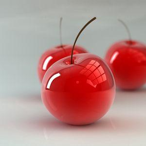 Preview wallpaper cherry, berry, 3d