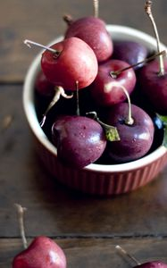 Preview wallpaper cherry, berry, bowl, sweet