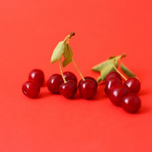 Preview wallpaper cherry, berry, branch, red