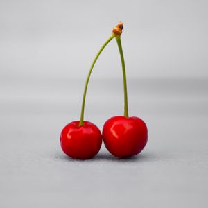 Preview wallpaper cherry, fruit, white background