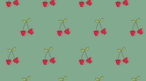 Preview wallpaper cherry, patterns, berries, vector, texture