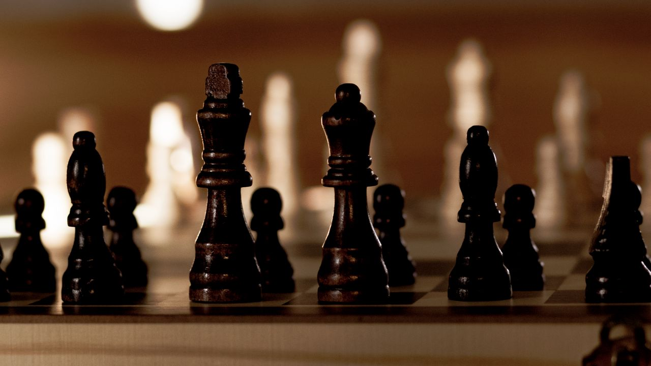 Wallpaper chess, board, pieces, king, queen, game