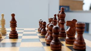 Preview wallpaper chess, chess board, figures