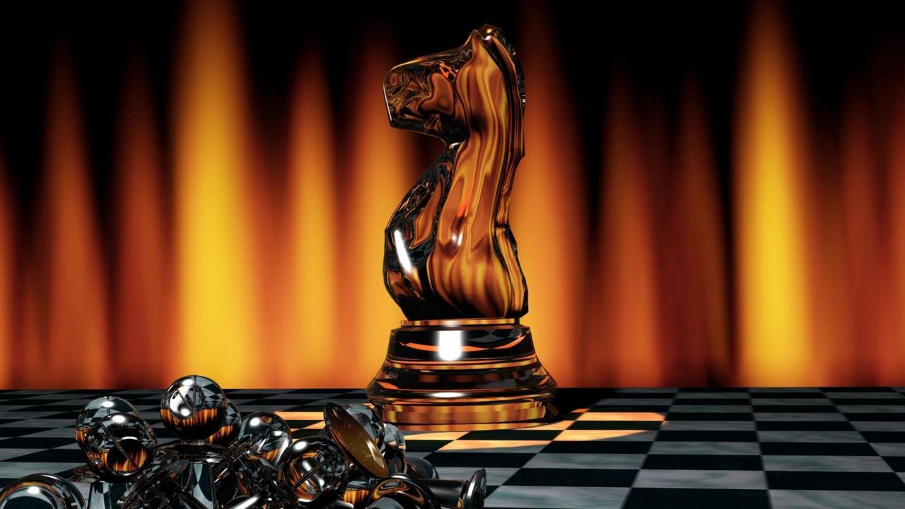 Wallpaper chess, game, board, chess pieces, light