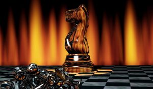Preview wallpaper chess, game, board, chess pieces, light