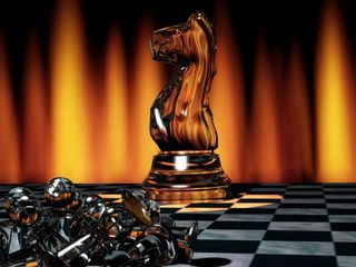 320x240 Wallpaper chess, game, board, chess pieces, light
