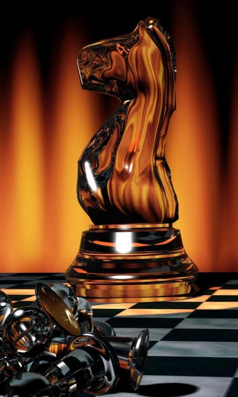 480x800 Wallpaper chess, game, board, chess pieces, light