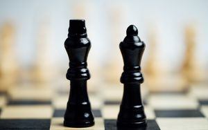 Preview wallpaper chess, pieces, king, queen, game, games, gaming
