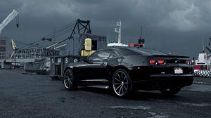 Preview wallpaper chevrolet, camaro, black, cars, auto