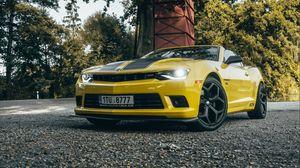 Preview wallpaper chevrolet camaro, chevrolet, car, sports car, yellow