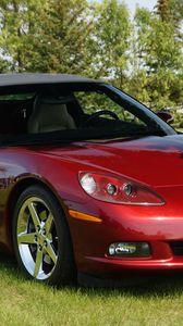 Preview wallpaper chevrolet corvette, chevrolet, car, red