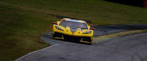Preview wallpaper chevrolet corvette, chevrolet, car, yellow, race