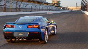 Preview wallpaper chevrolet, corvette, stingray, c7, indy 500, pace car