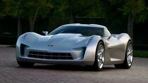 Preview wallpaper chevrolet, corvette, stingray, gray, cars