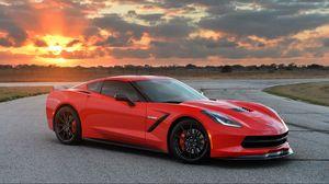 Preview wallpaper chevrolet, corvette, stingray, twin turbo, c7, 2014