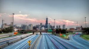 Preview wallpaper chicago, illinois, road, hdr