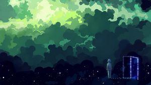 Preview wallpaper child, night, dreams, fantasy, art