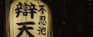 Preview wallpaper chinese lantern, flashlight, light, hieroglyphs, words
