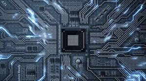 Preview wallpaper chip, circuit, processor, transistors, tracks, glow