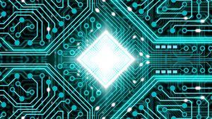 Preview wallpaper chip, processor, glow, scheme, core, tracks