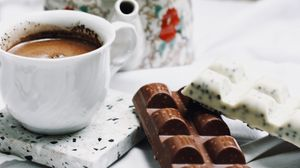 Preview wallpaper chocolate, coffee, kettle