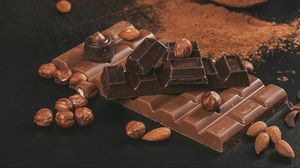 Preview wallpaper chocolate, nuts, cocoa, brown
