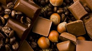 Preview wallpaper chocolate, nuts, tasty