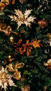 Preview wallpaper christmas, christmas tree, christmas toys, new year