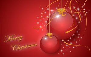Preview wallpaper christmas decorations, balloons, couple, flickering, christmas