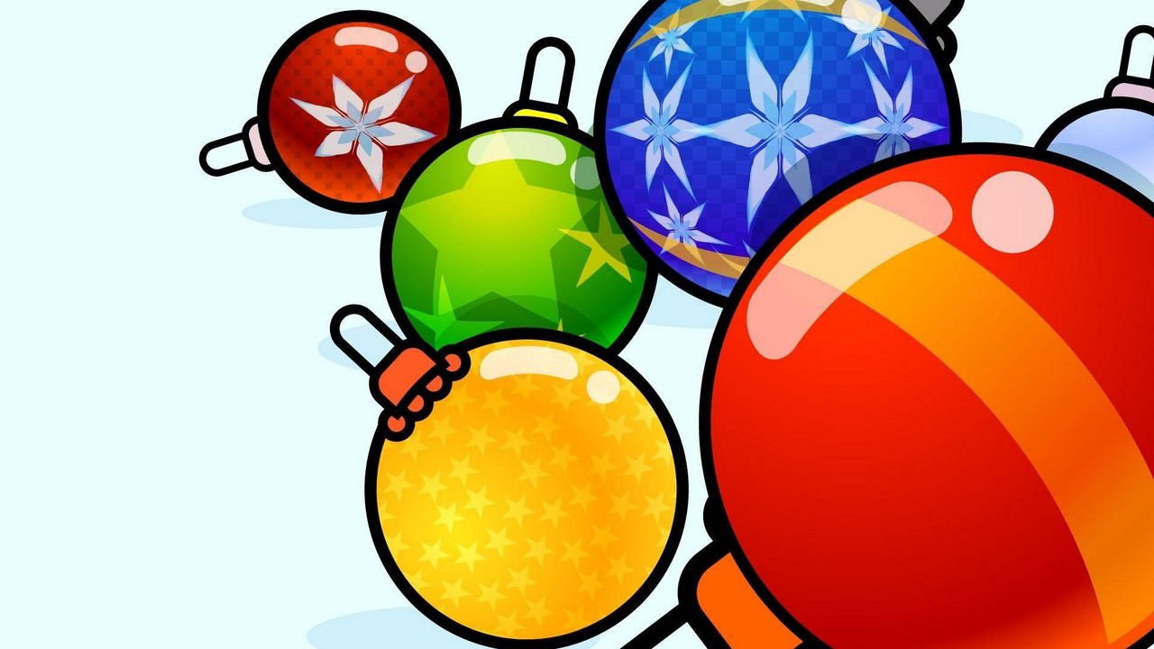 Wallpaper christmas decorations, balloons, diversity, picture