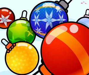 Preview wallpaper christmas decorations, balloons, diversity, picture