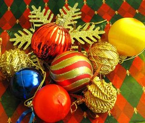 Preview wallpaper christmas decorations, balloons, diversity, snowflake
