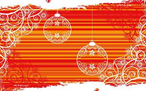 Preview wallpaper christmas decorations, balloons, patterns, background