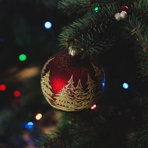 Preview wallpaper christmas decorations, new year, christmas, christmas tree