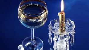 Preview wallpaper christmas, new year, candle, crystal, glass
