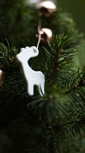 Preview wallpaper christmas, new year, christmas tree, toy