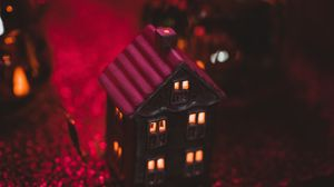 Preview wallpaper christmas, new year, house, decoration, light