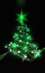 Preview wallpaper christmas tree, christmas, new year, art