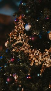 Preview wallpaper christmas tree, christmas toys, christmas, new year, decoration