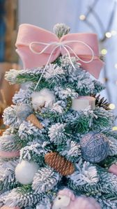 Preview wallpaper christmas tree, new year, decorations, christmas