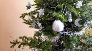 Preview wallpaper christmas tree, toys, holiday, jewelry, new year