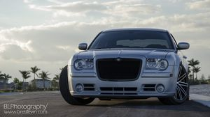 Preview wallpaper chrysler 300c srt8, chrysler, front view, auto, headlight