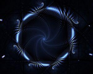 Preview wallpaper circle, blue, neon, light