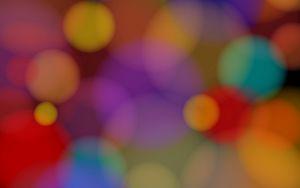 Preview wallpaper circle, colorful, glare, blurred